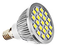 3W E14 Focos LED MR16 21 SMD 5050 240 lm Blanco Natural AC 100-240 / AC 110-130 V