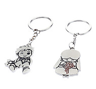 A Pair Cartoon Couple Shaped Lovers Keychains