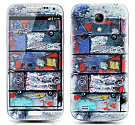 Graffiti Wall Pattern Front and Back Protector Stickers for Samsung Galaxy S4 mini I9190