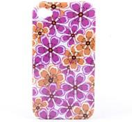 bunten Blumenmuster Stil Schutzhülle für das iPhone 4 und 4S (Multi-Color)