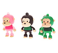 16GB Cute Rubber Monkey USB Flash Drive