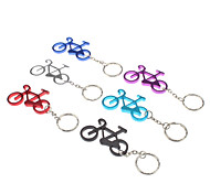 Aluminum Alloy Bicycle Model Keychain with Carabiner Hook