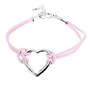z&X® rosa cinturino in pelle a forma di cuore
