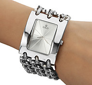 Men's Analog Quartz White Face Silver Steel Band Bracelet Watch (Silver) Cool Watches Unique Watches