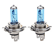 H4 Super White Car Light Bulbs 100W (2-Pack/DC 12V)