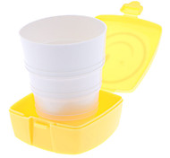 Square Compact Smiley Face Telescopic Cup (Random Color)