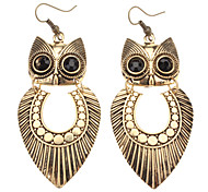 Ancient Gold Owl Earring