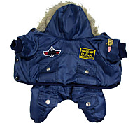 USA Air Force Uniform Style Costume Jumpsuits with Hoodie for Pets Dogs (Assorted Colors, Sizes)