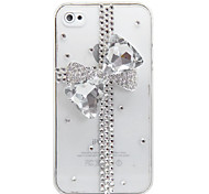 Bowknot Gift Design Transparent Back Case for iPhone 4/4S