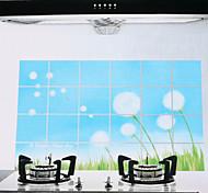 75x45cm Dandelion Pattern Oil-Proof Water-Proof Hot-Proof Kitchen Wall Sticker