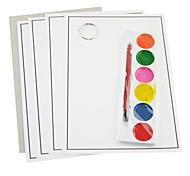 6 colores pigmento pintura y de cepillo del juguete educativo