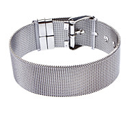 18mm Stainless Steel Mesh Belt Surface Mens Bracelet