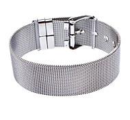 18 mm de malla de acero inoxidable para hombre de la pulsera de la correa de superficie