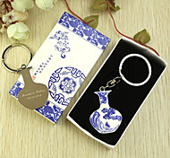 Personalized 6pcs Blue-and-white Phoenix Design Keychain