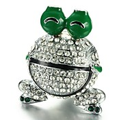 Merdia Rehinestone Shining Frog Shaped Perfume Air Freshener Lemon Scent for Cars