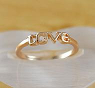 Frauen Liebe vergoldete Fingerring