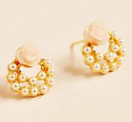ol elegante Ohrringe Ohrringe Rose Blume Ohrringe weiblichen (zufällige Farbe)