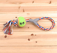 """Y"" Shaped Rope with Tennis Ball and Paws Pattern Chewing Toy for Pets Dogs(Random Color)"
