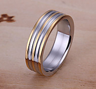 Between gold stripes Steel Ring