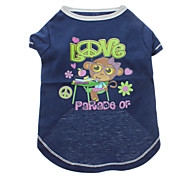 Cool Monkey Parade of Love Pattern T-Shirt for Pets Dogs (Assorted Sizes)
