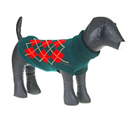 Lovely Classic Green Grids Pattern Sweater for Pets Dogs (Assorted Sizes)