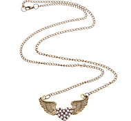 Wings Of Love Pink Pearl Necklace