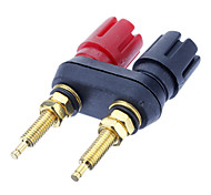 Banana Plug Binding Post Welding Gold-Plated Black&Red for Home Theater