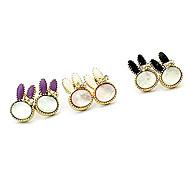 Korean jewelry crystal rabbit earrings Korea earrings earrings(random color)