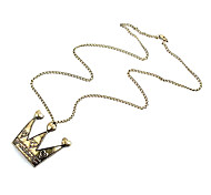 Korean version of the retro fashion personality new small pepper sweater chain necklace Crown N350