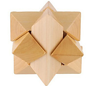Wooden Interlocked Star Educational Toy (Wood Color)
