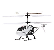SYMA S36 2.4GHZ 3 kanaals afstandsbediening Mini Helicopter met Gyro en LED (wit, 4xAA)