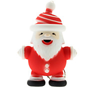 Santa Claus Shaped Keychain with LED & Voice