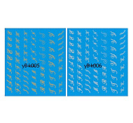 4ШТК вода трансферная печать смешанного образца ногтей наклейки Линии