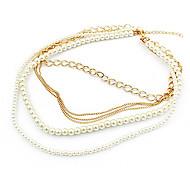 Ultra textured multilayer pearl trade jewelry sweater chain necklace N210