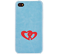 Solid Color Heart to Heart Pattern PC Hard Case mit Interior Beflockung Protectionfor iPhone 4/4S (Optional Farben)