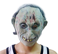 Branco Máscara Zombie com tampa da cabeça para festa à fantasia de Halloween