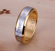 Everlasting love steel ring men Jewelry