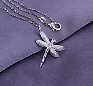 Silver Dragonfly Sheaped Pendant (Pendant Only)