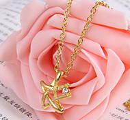 Flash diamond woven pentagram necklace 2013 new (random color)