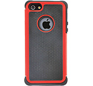 Hybird Rugged Impact Hard Case with Interior Silicone Back Cover for iPhone 5/5S (Optional Colors)