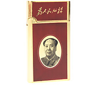 Presidente Mao Figura Pattern Windproof de jato butano isqueiro