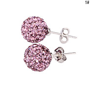 Crystal Ball Stud Earring(Assorted Color)