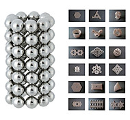 64pcs 8x8x8mm Magnetic Construction Toy (Silver)