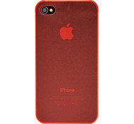 Abweichungen Solid Color Ultradünne TPU Soft Case für iPhone 4/4S (Optional Farben)