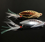 1 pcs Hard Bait / Metal Bait / Vibration/VIB / Fishing Lures Vibration/VIB / Hard Bait / Metal Bait Gold / Silver / Random Colors10g 14g