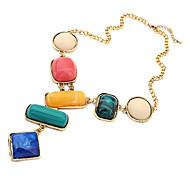 OL estilo multicolor geometria jóia colar