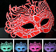 Hard Masquerade Chapped Retro Halloween Mask (Assorted Color)