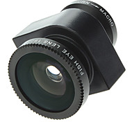 3-In-One Designed Camera Lens Kit 180 Degree Fish Eye,2 X Wide Angle and Macro Lens for iPhone 5 and Others
