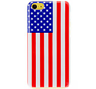 Bright The Stars and the Stripes Pattern PC Hard Case with Transparent Frame for iPhone 5C
