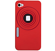 Camera Pattern Silicon Case for iPhone 4/4S (Assorted Colors)